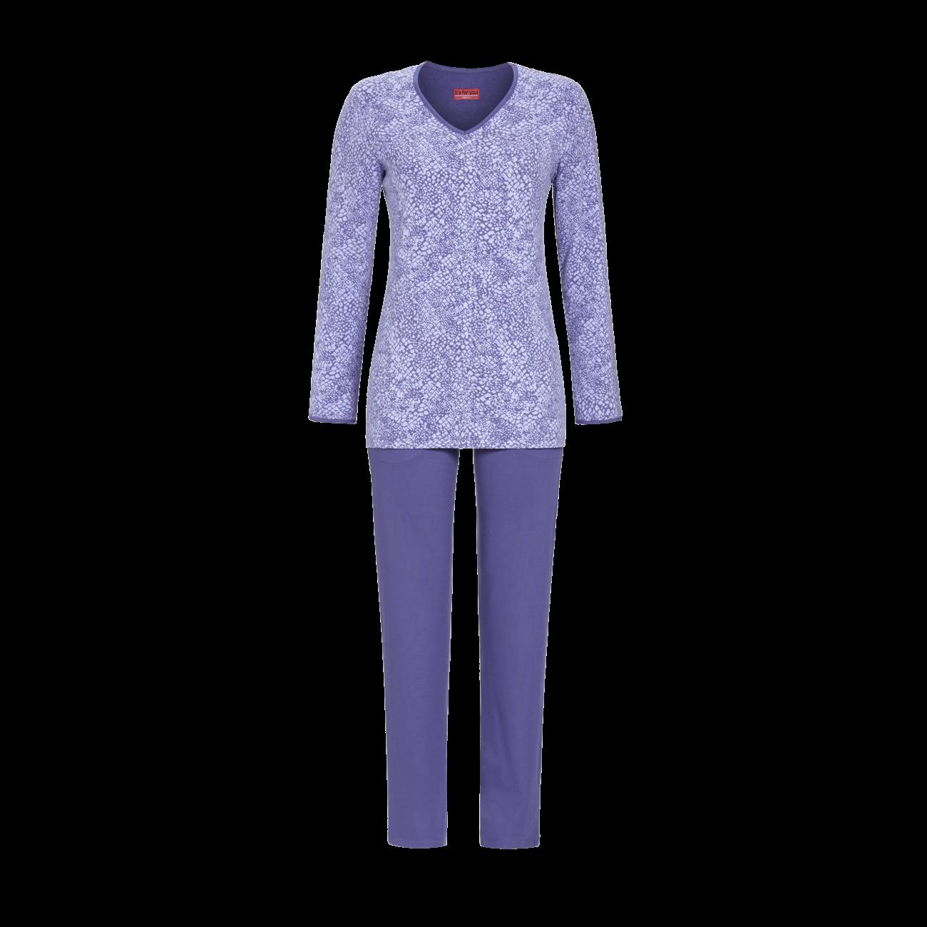 Pyjama mit V-Ausschnitt grey-blue | 40