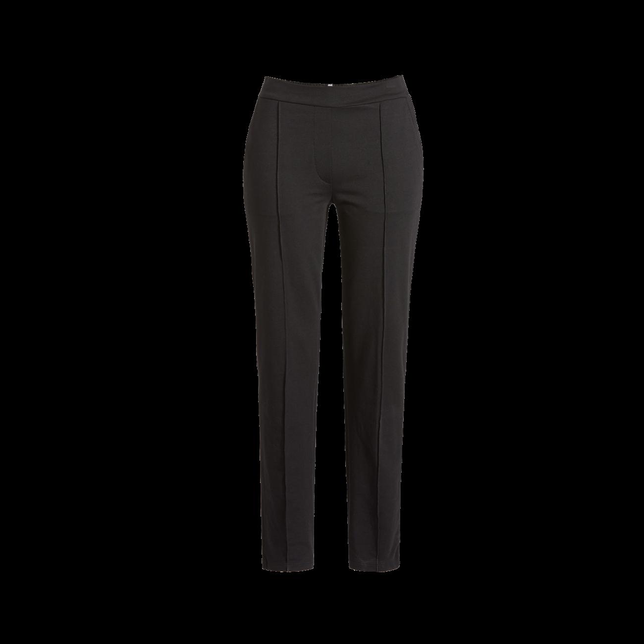 Lange Hose aus Sweatware schwarz | 36