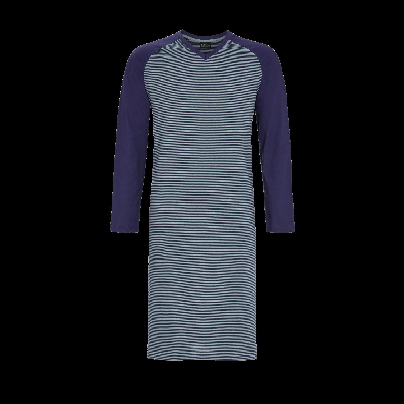 Nachthemd mit V-Ausschnitt marine | 48
