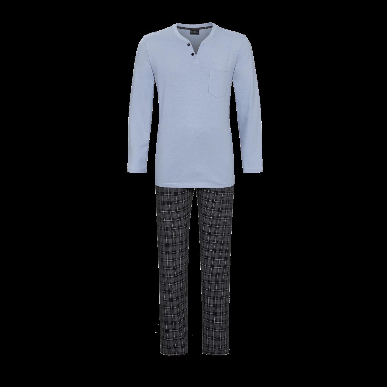 Pyjama mit Karohose smoke | 48