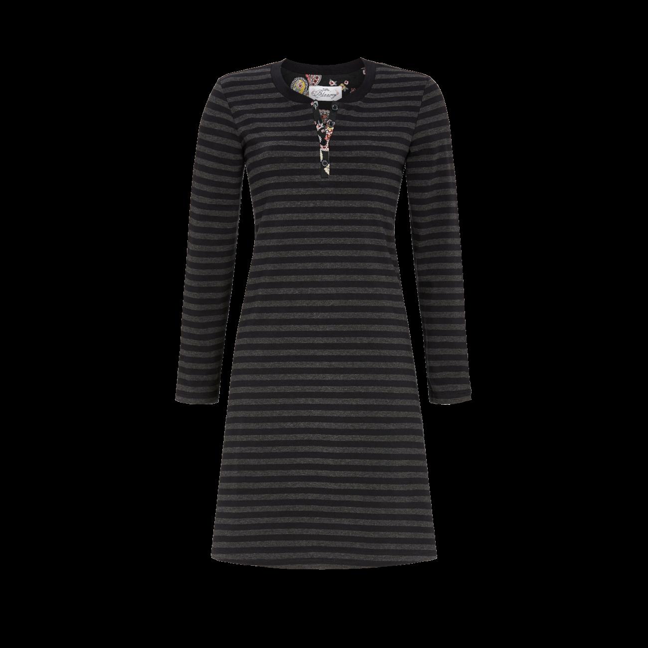 Nachthemd mit Knopfleiste schwarz | 40