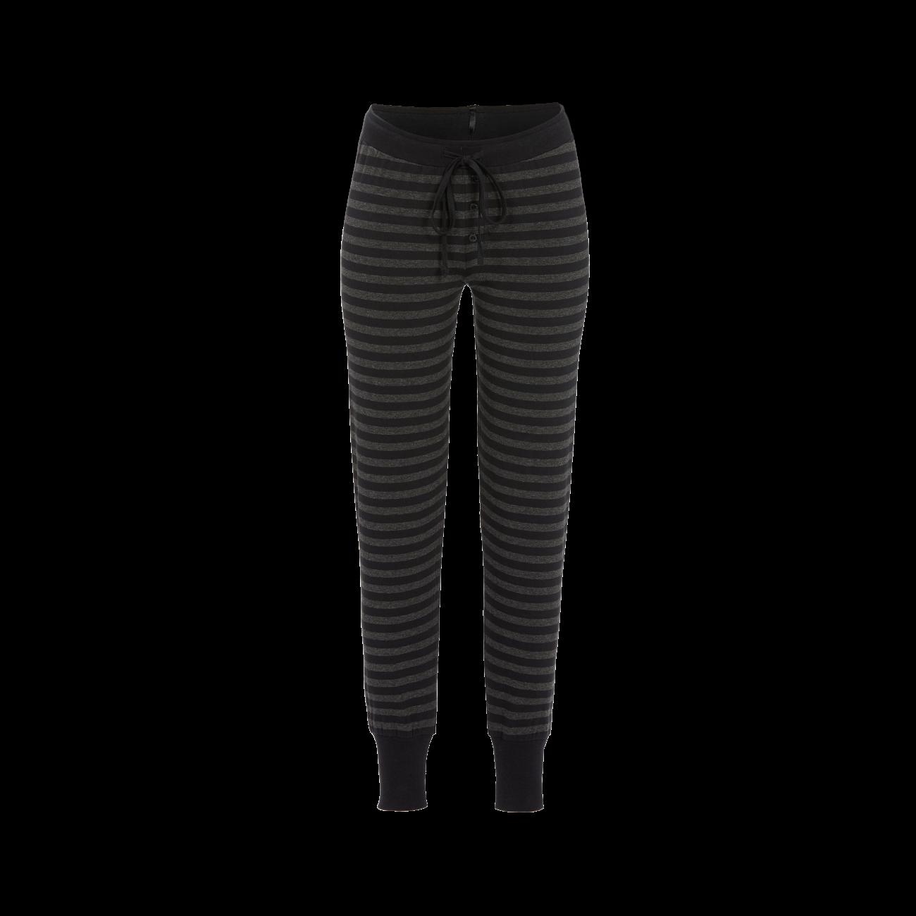 Lange Leggings mit Strickbündchen schwarz | 38