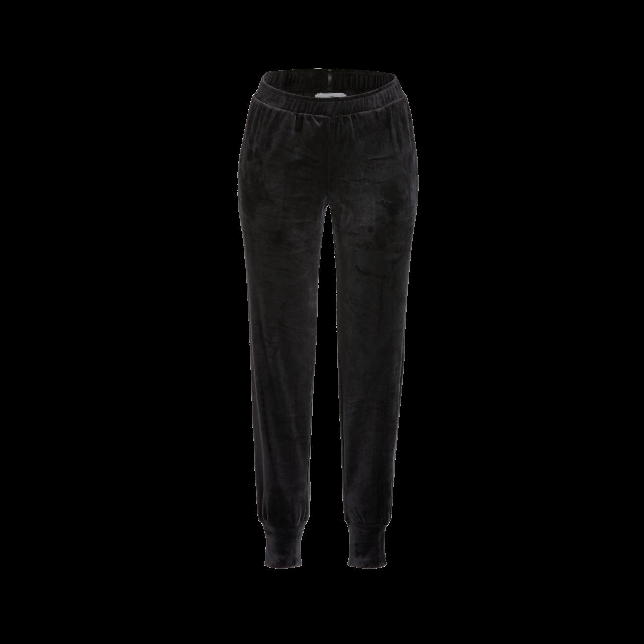 Lange Nicki-Hose mit Bündchen schwarz | 36