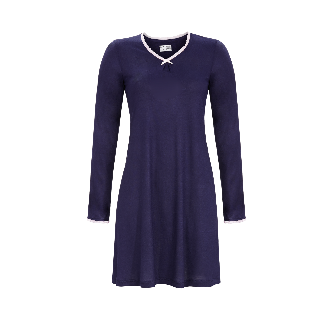 Nachthemd mit V-Ausschnitt dark navy   36