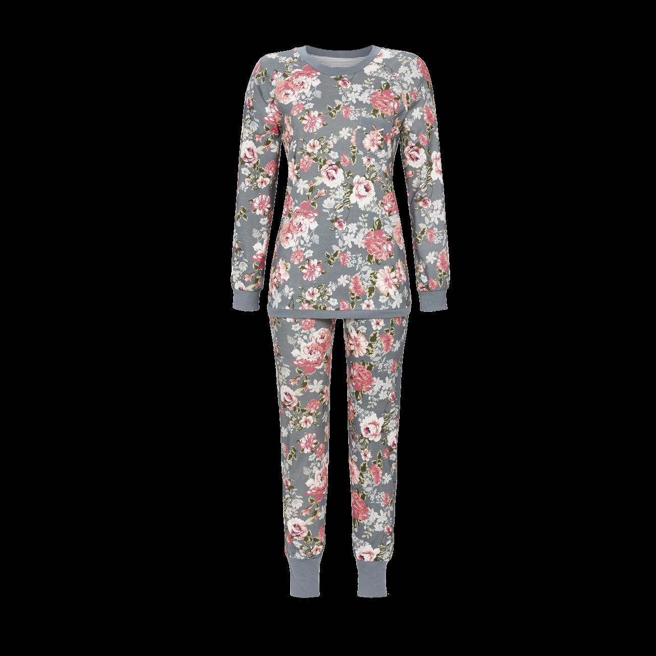 Pyjama mit Strickbündchen silbergrau | 36
