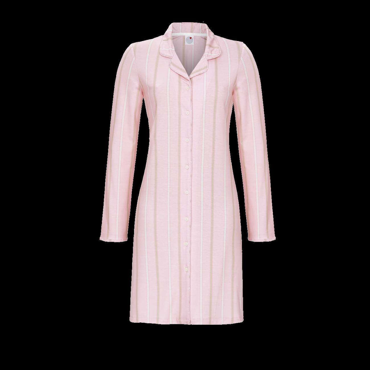 Nachthemd mit Streifendessin dusty rose | 40