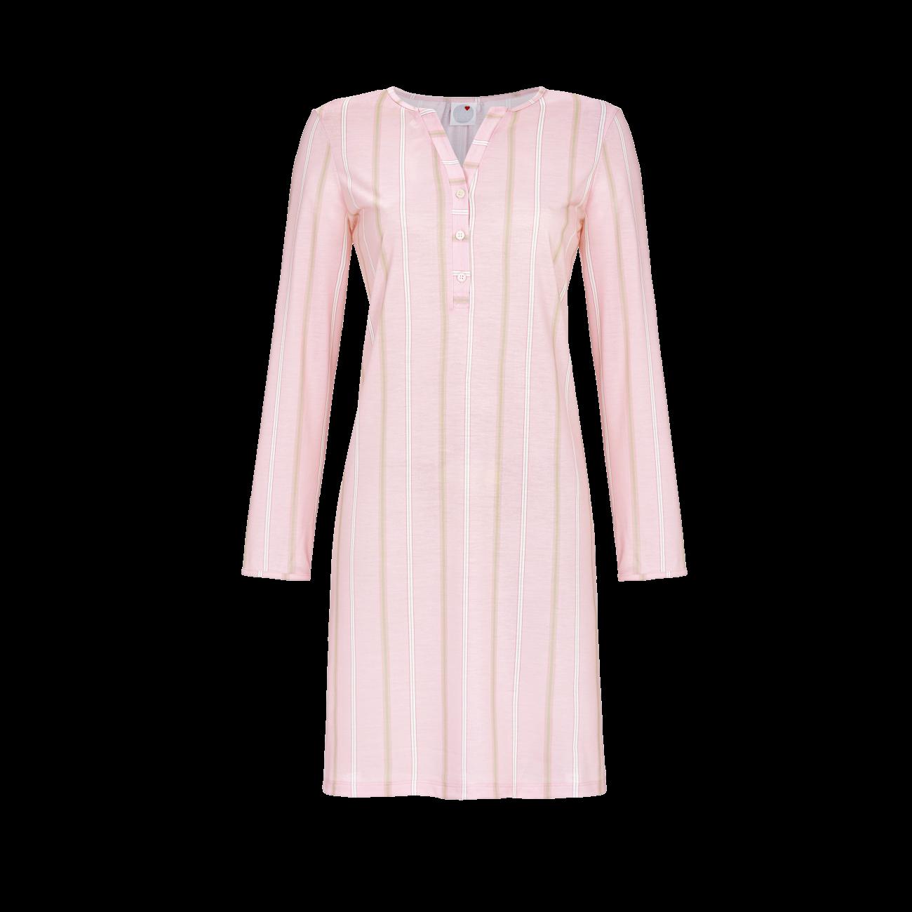 Nachthemd mit Knopfleiste dusty rose | 40