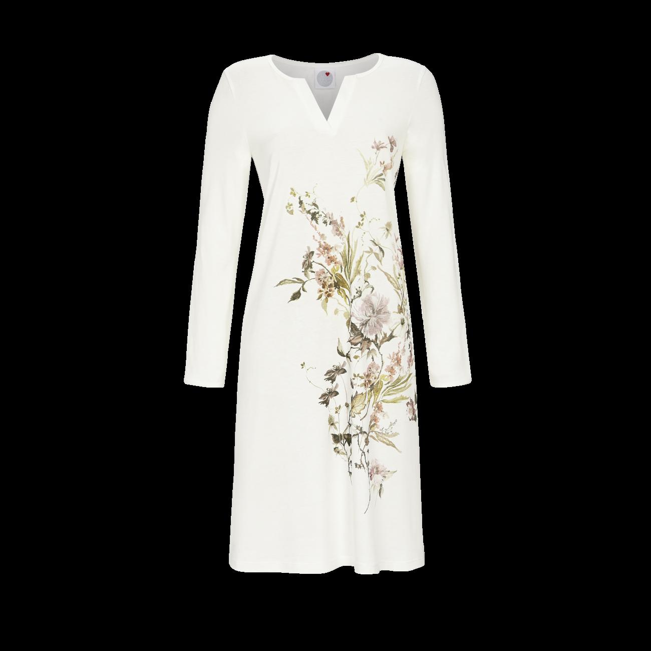 Nachthemd mit Blumenmotiv champagner | 40