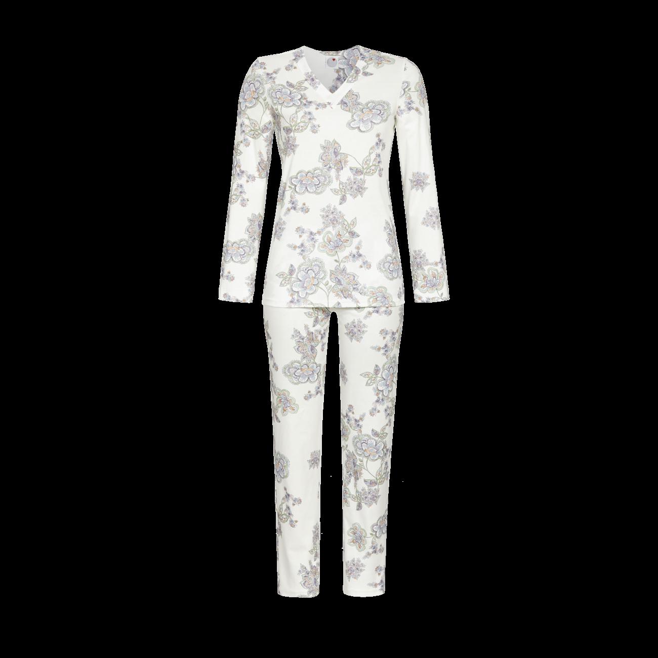 Pyjama mit V-Ausschnitt champagner | 38