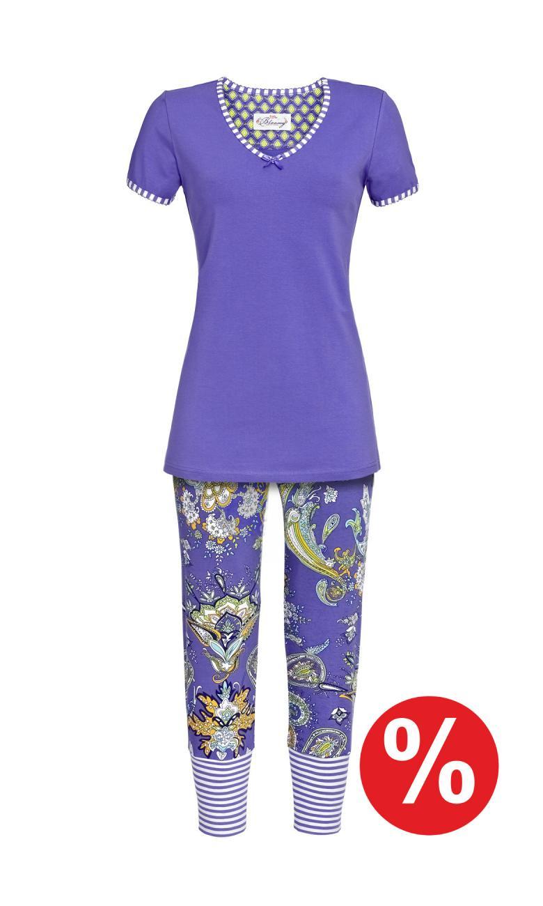 Pyjama - Caprihose summer blue | 32