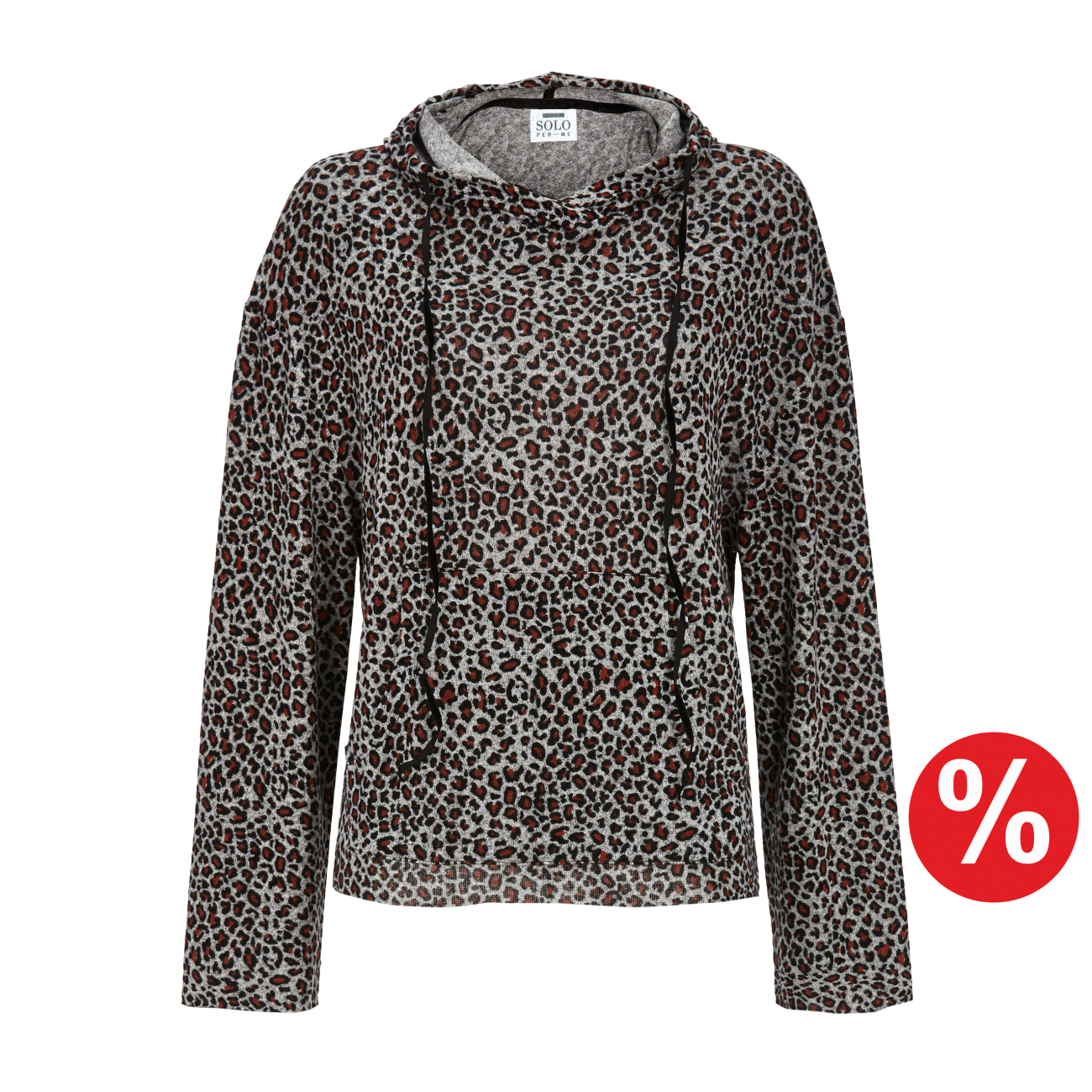 Pullover mit Kapuze grau-melange | 48/0