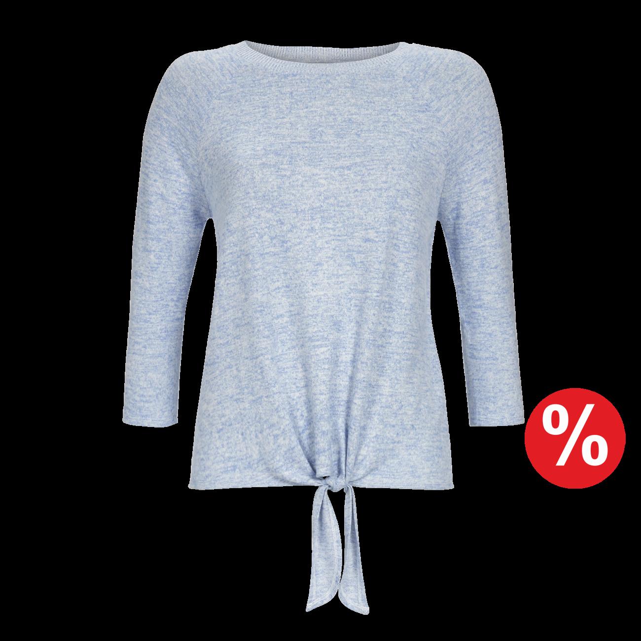 Pullover blau-melange | 48/0