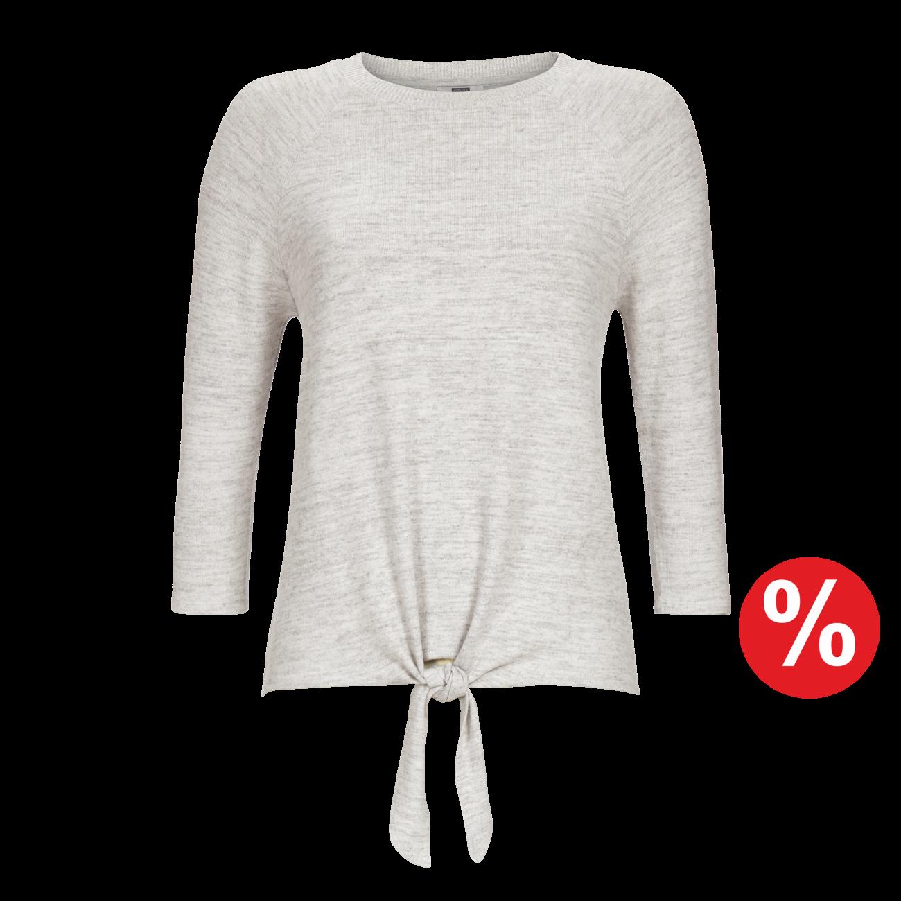 Pullover silber-melange | 40/2