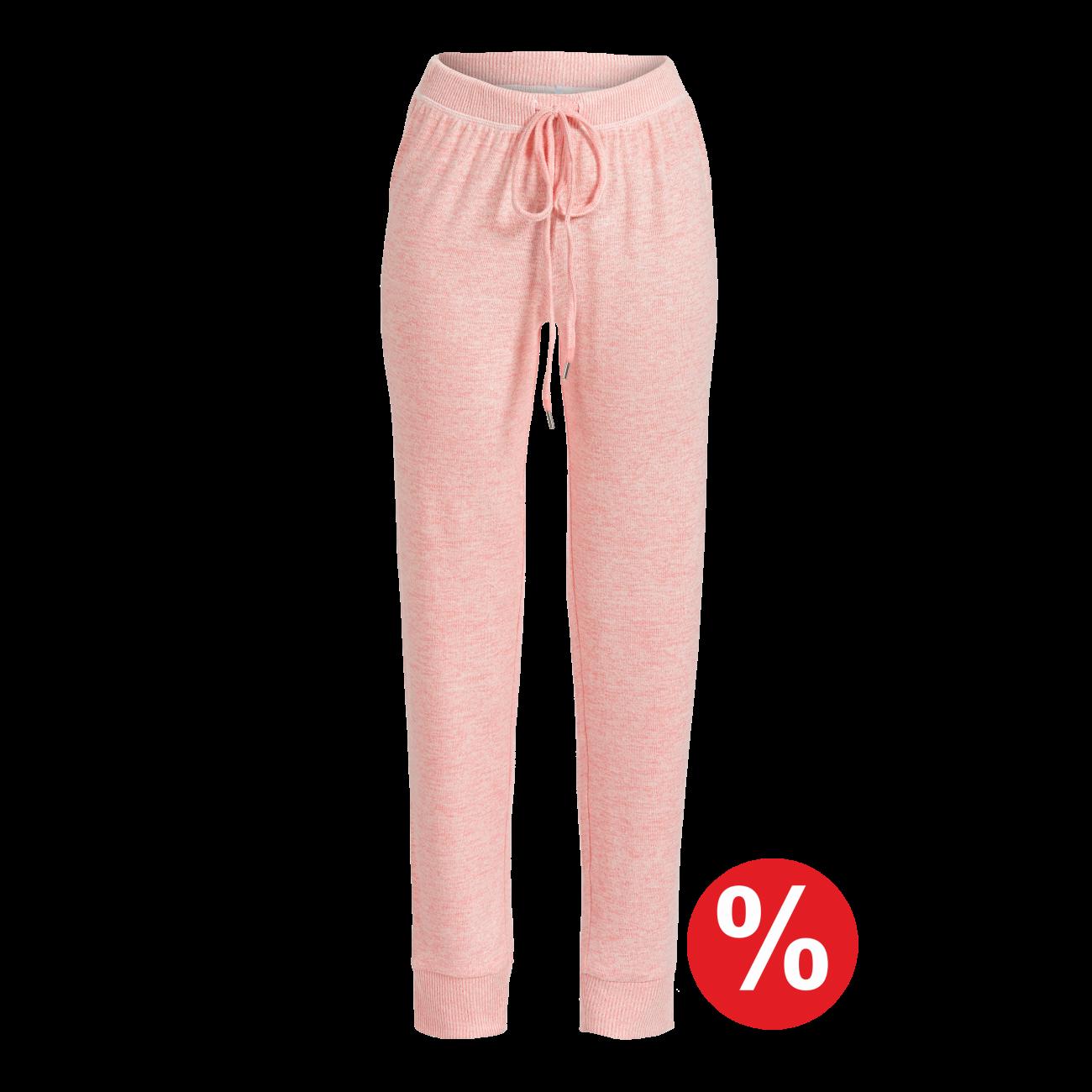Lange Hose rosa-melange | 40/2