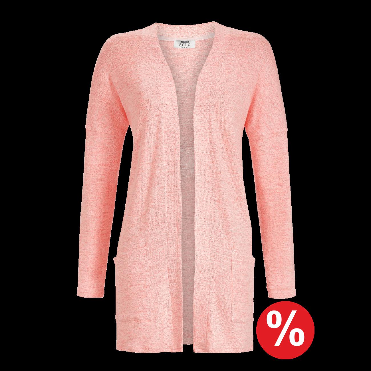 Strickjacke rosa-melange | 48/0