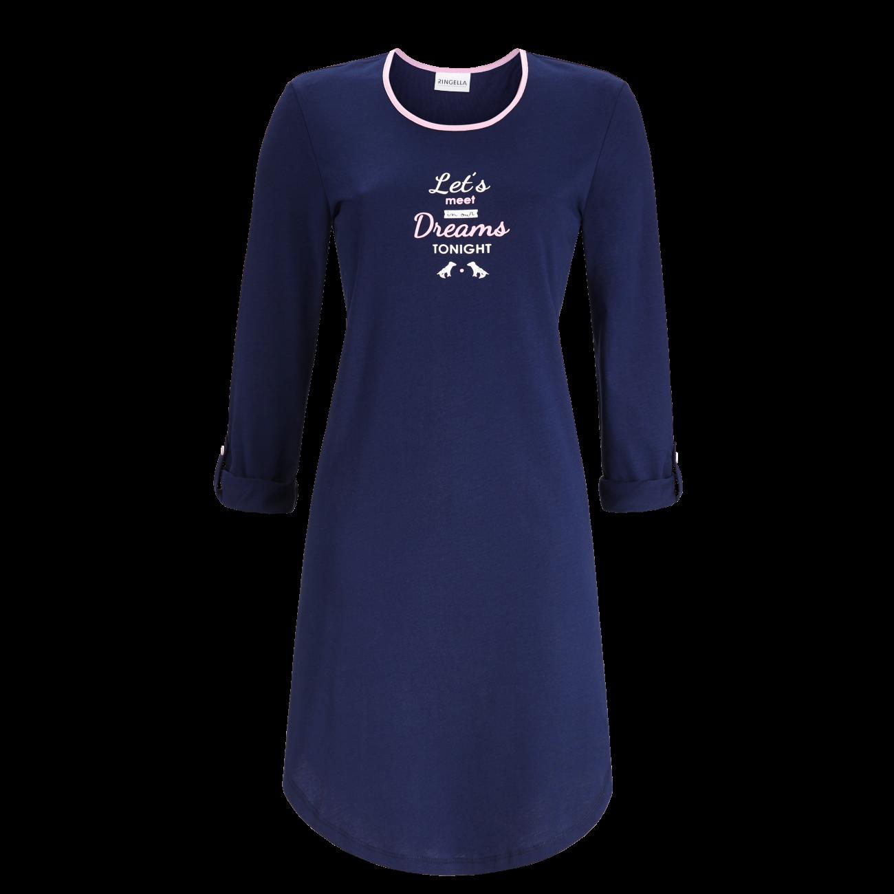 Nachthemd mit Motivdruck marine | 38