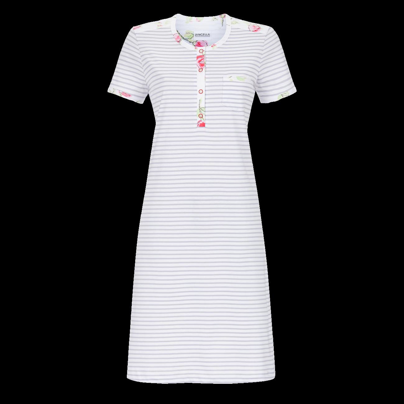 Nachthemd mit Knopfleiste silbergrau | 42