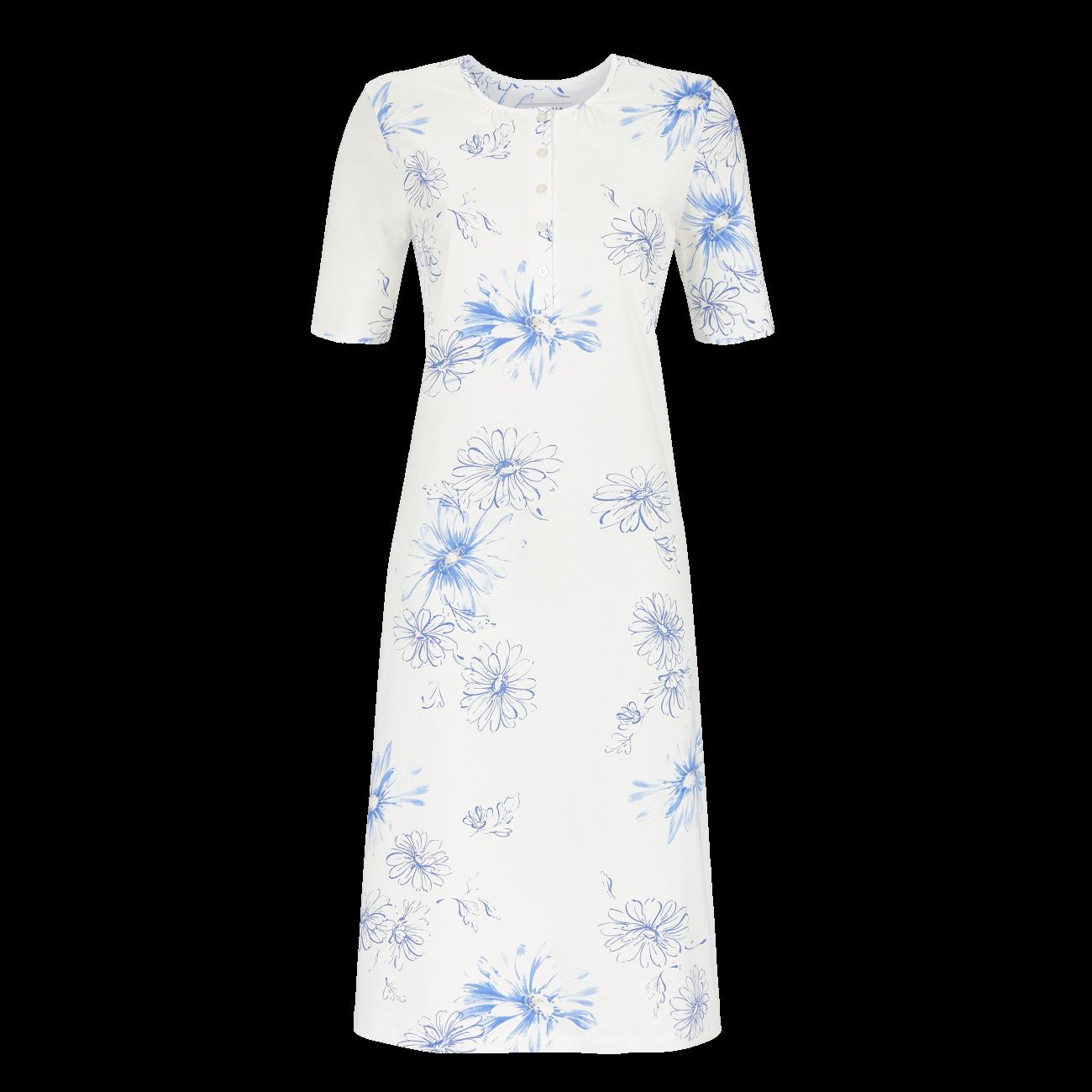 Nachthemd mit Knopfleiste bleu   40