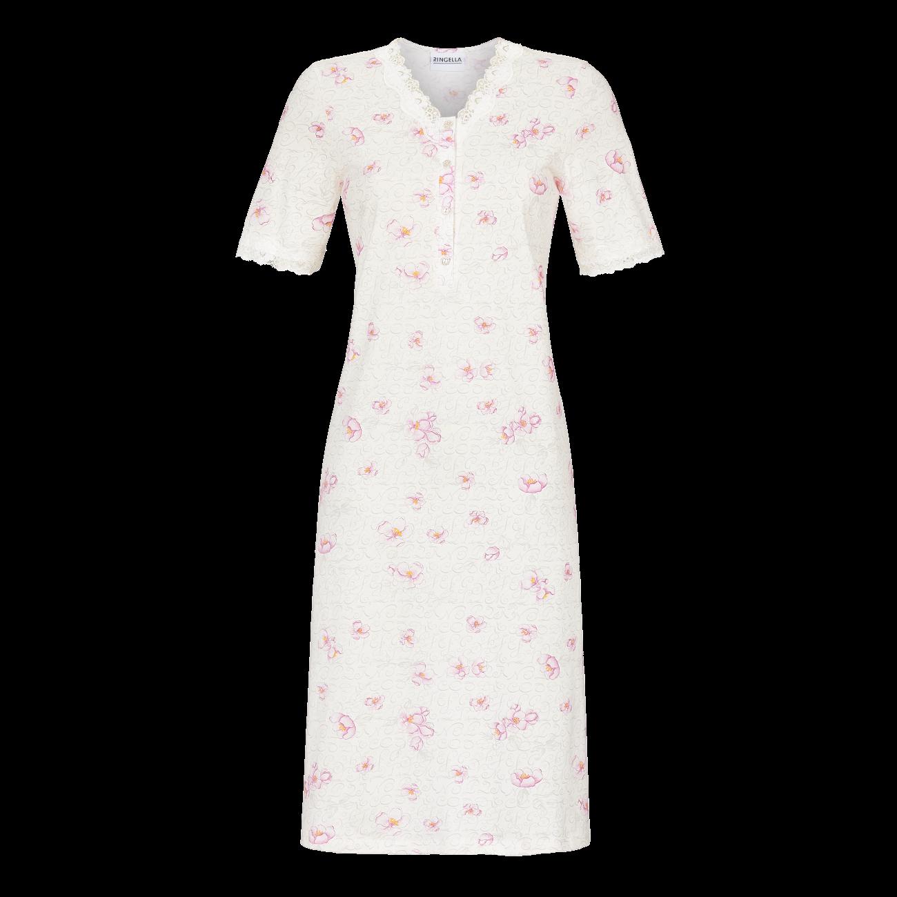 Nachthemd mit Knopfleiste off-white | 40