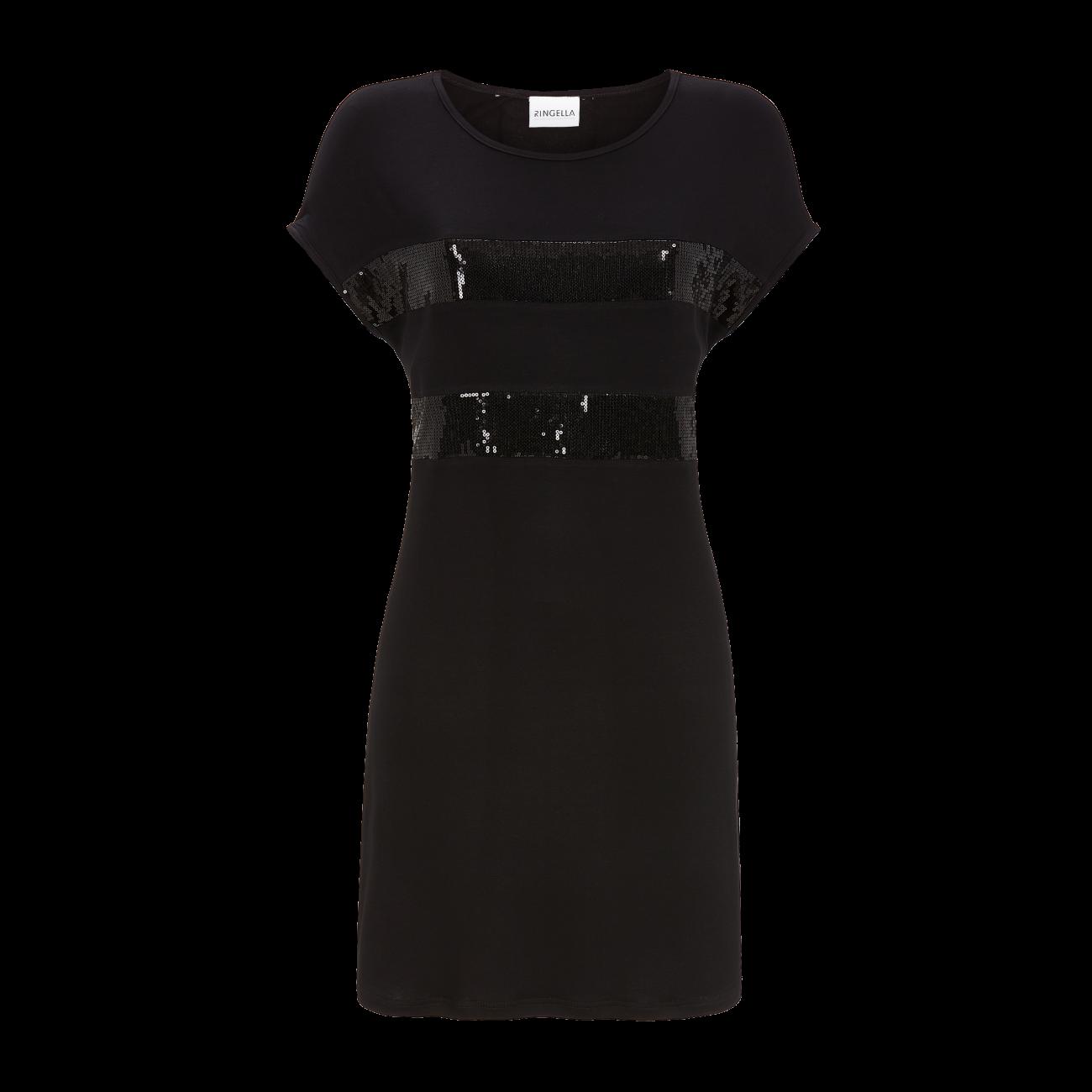 Kleid mit Pailletteneinsätzen schwarz   40