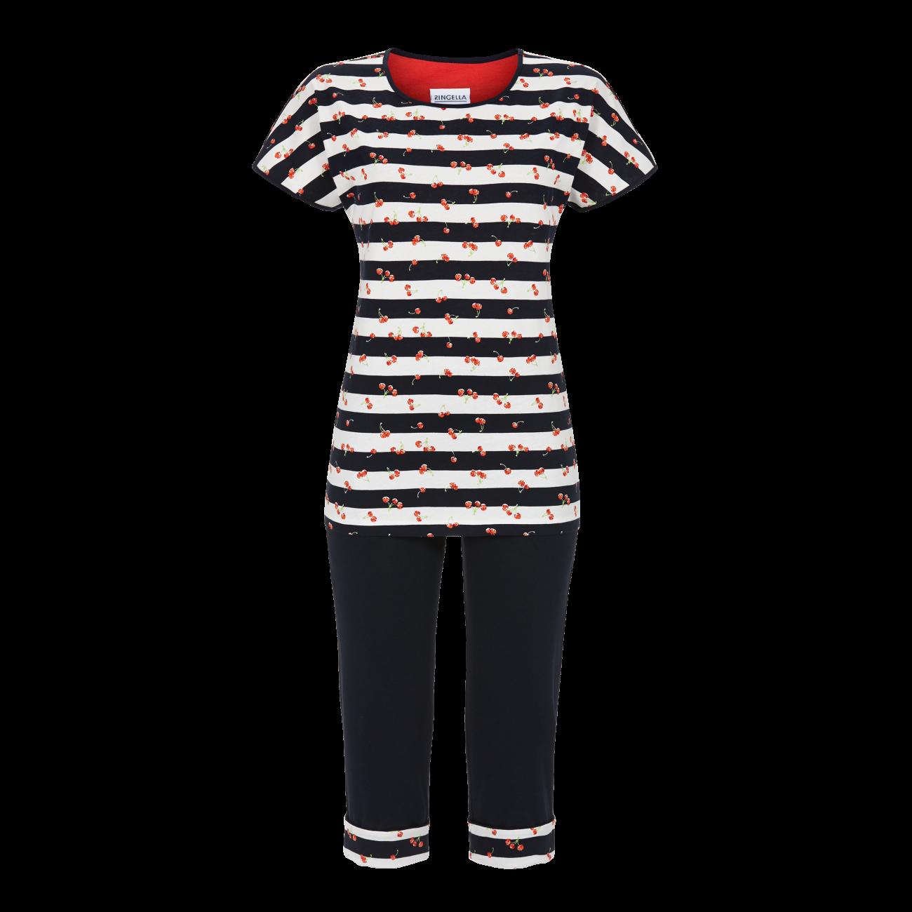 Pyjama mit Caprihose dark navy | 40