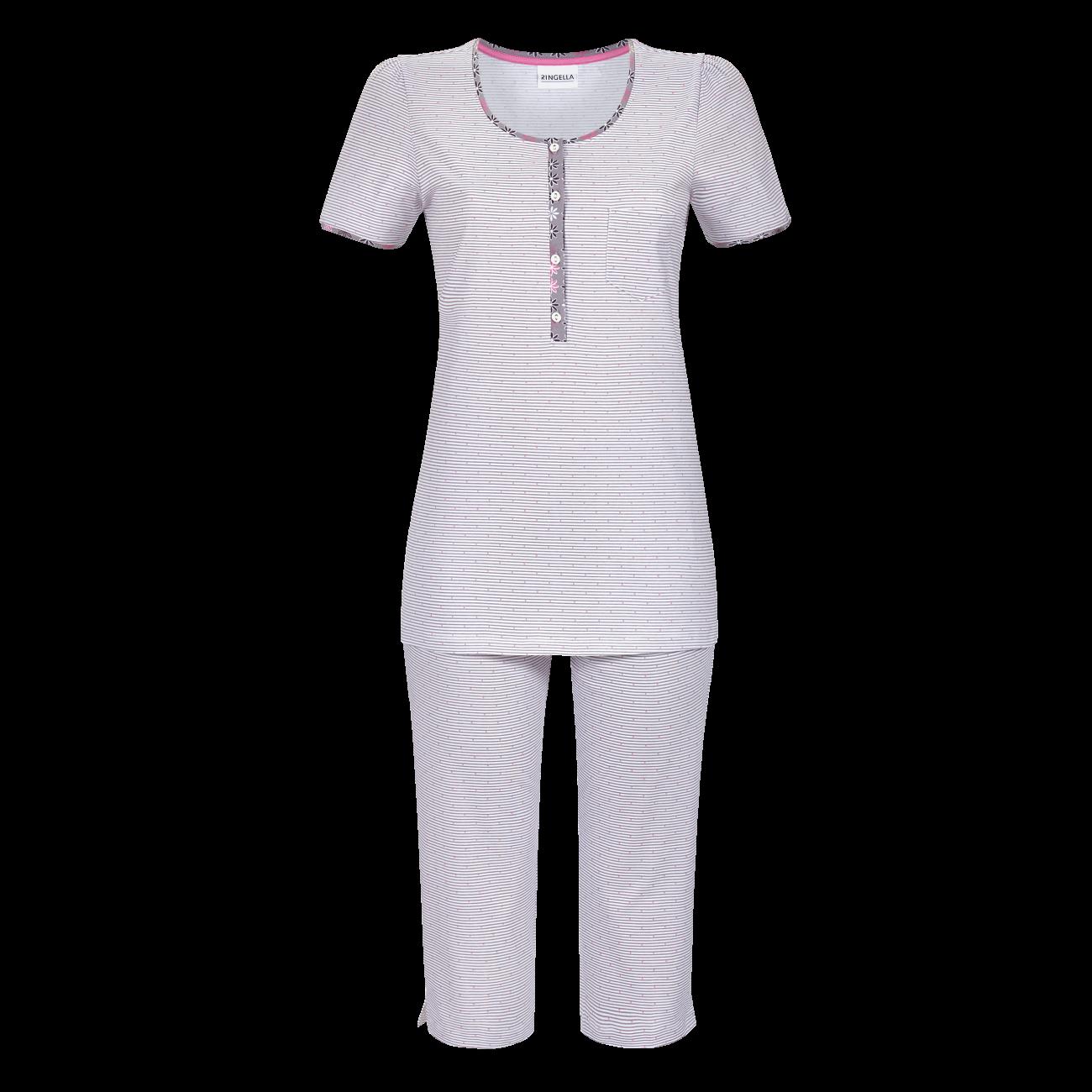 Pyjama mit Caprihose platin | 36