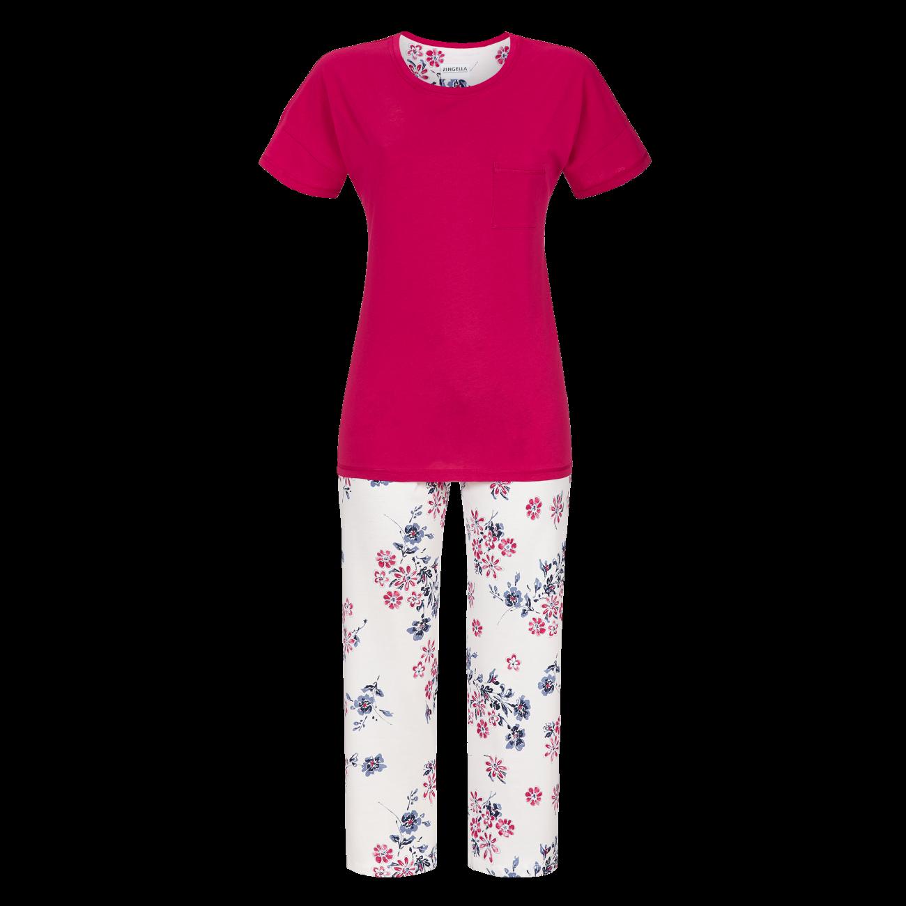 Pyjama mit 7/8 Hose granat   38