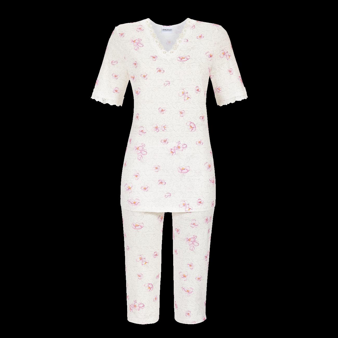 Pyjama mit Caprihose off-white | 40