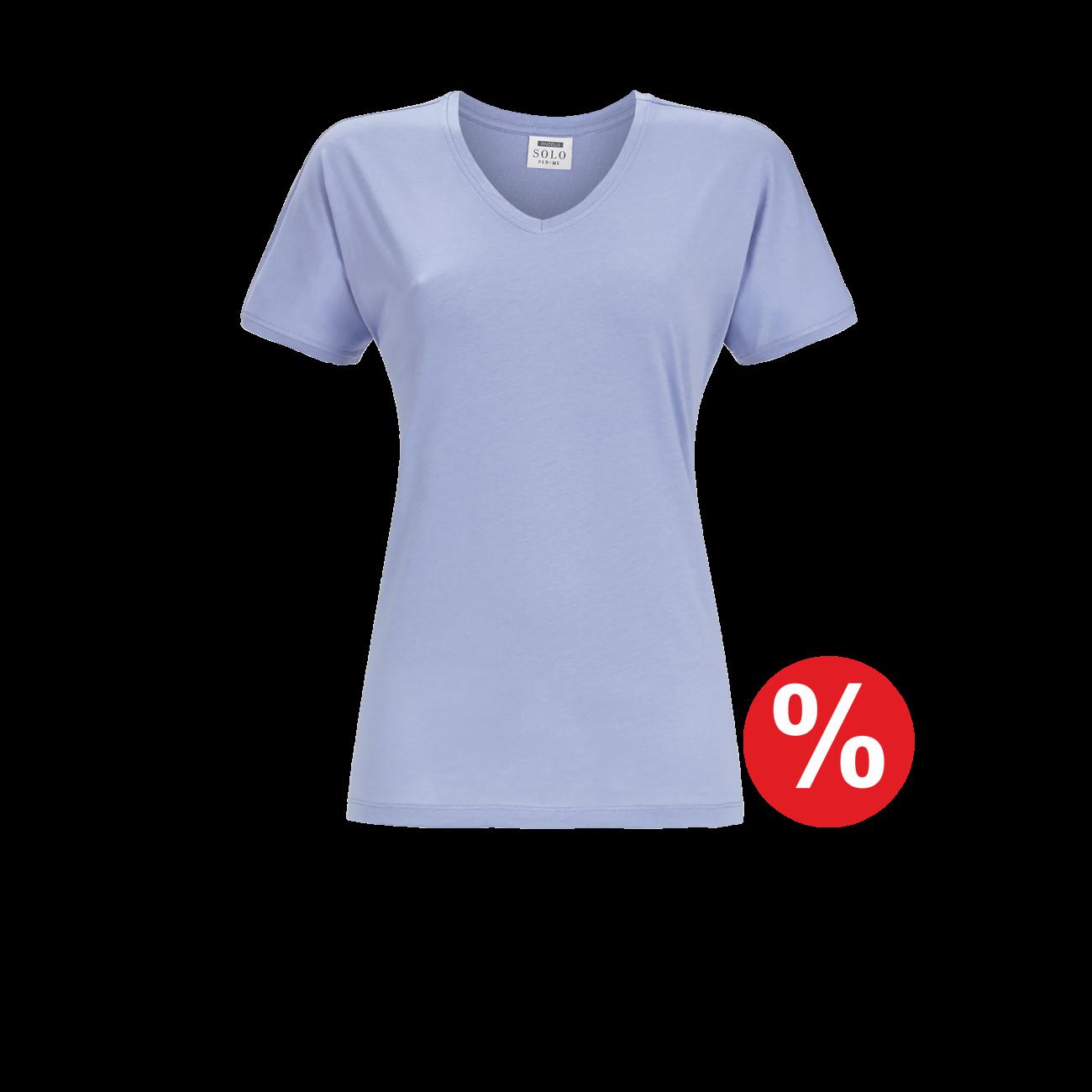 T-Shirt Kurzarm eisblau | 38