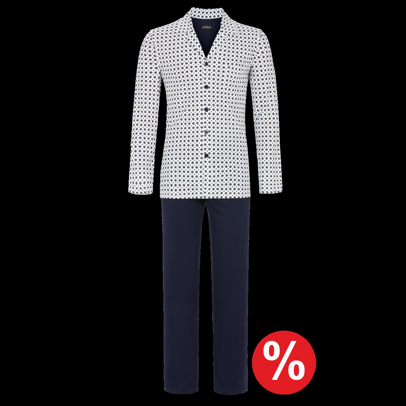 Pyjama durchgeknöpft off-white | 56