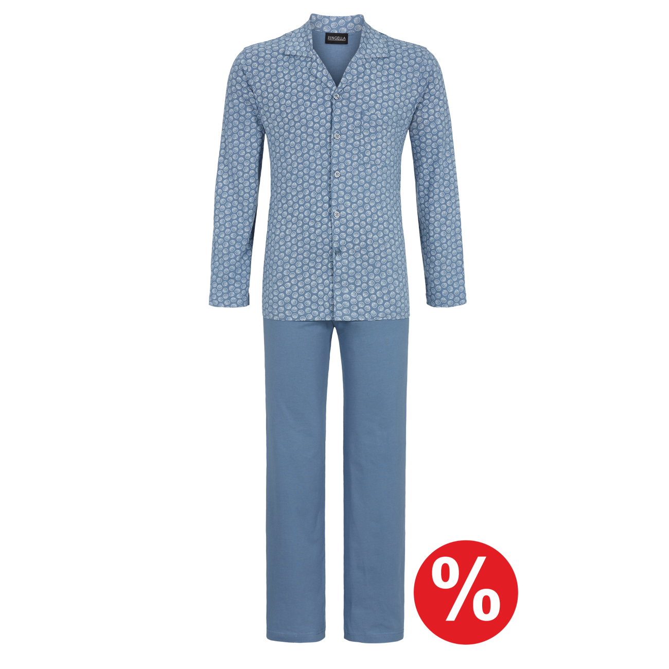 Pyjama durchgeknöpft blue shadow | 58