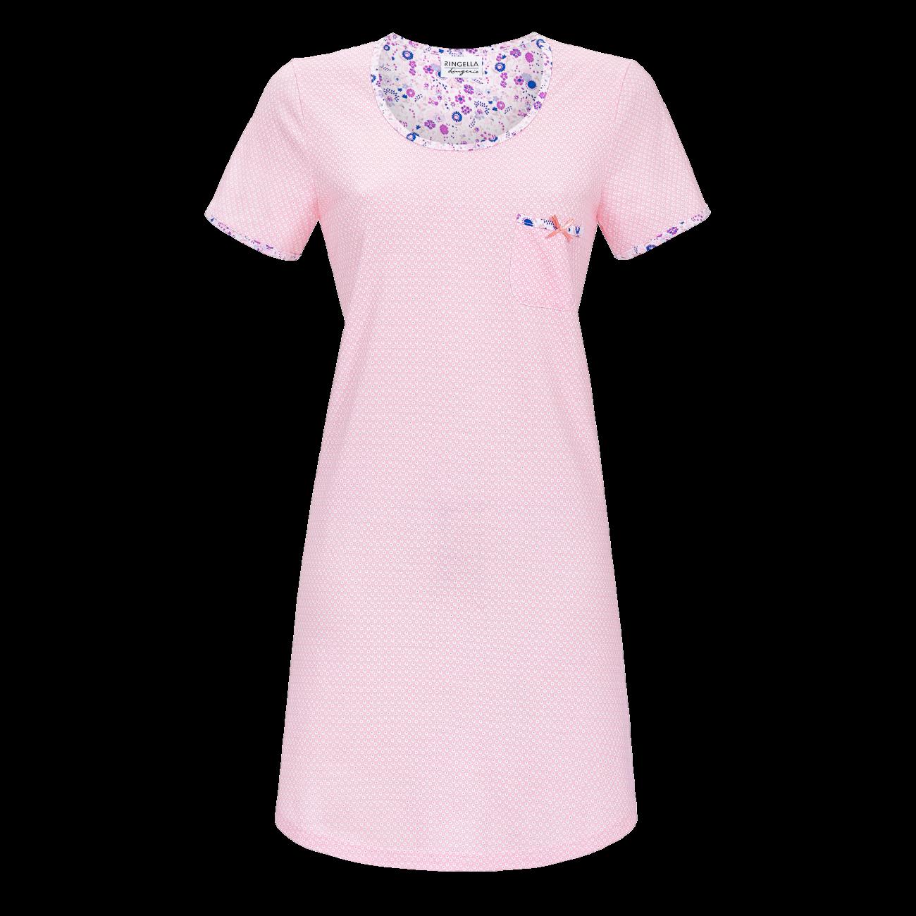 Nachthemd mit Brusttasche nelke | 36