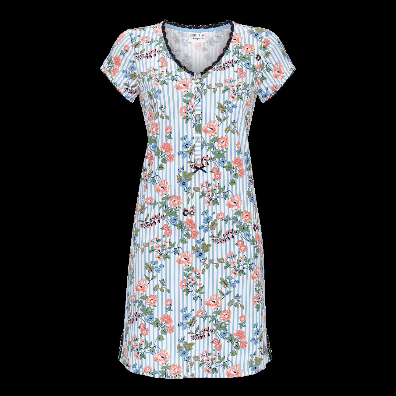 Nachthemd mit Knopfleiste blue bell | 36