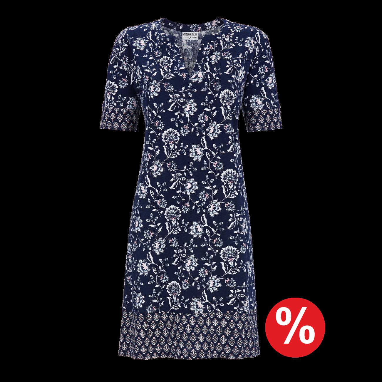 Kleid mit Blumendruck night | 38