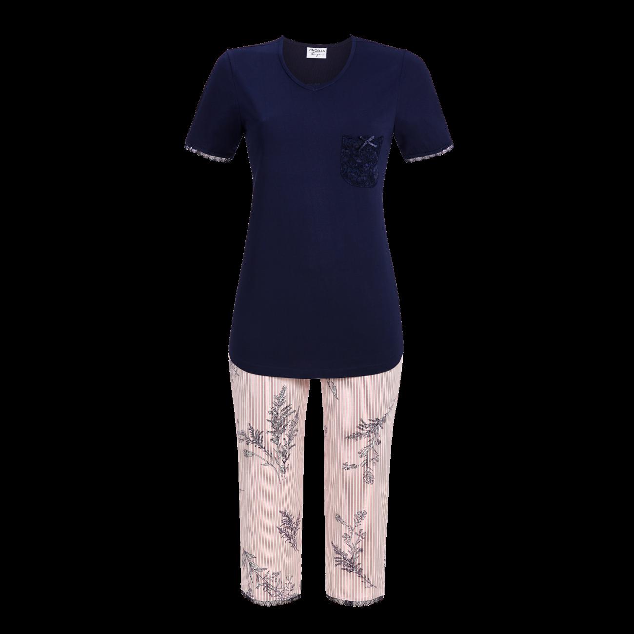 Pyjama mit Caprihose night | 36