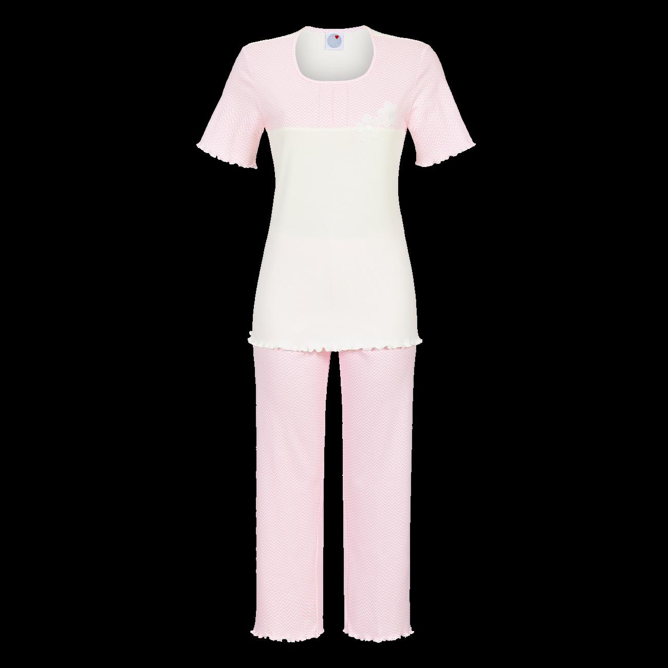 Pyjama mit 7/8 Hose nelke | 38