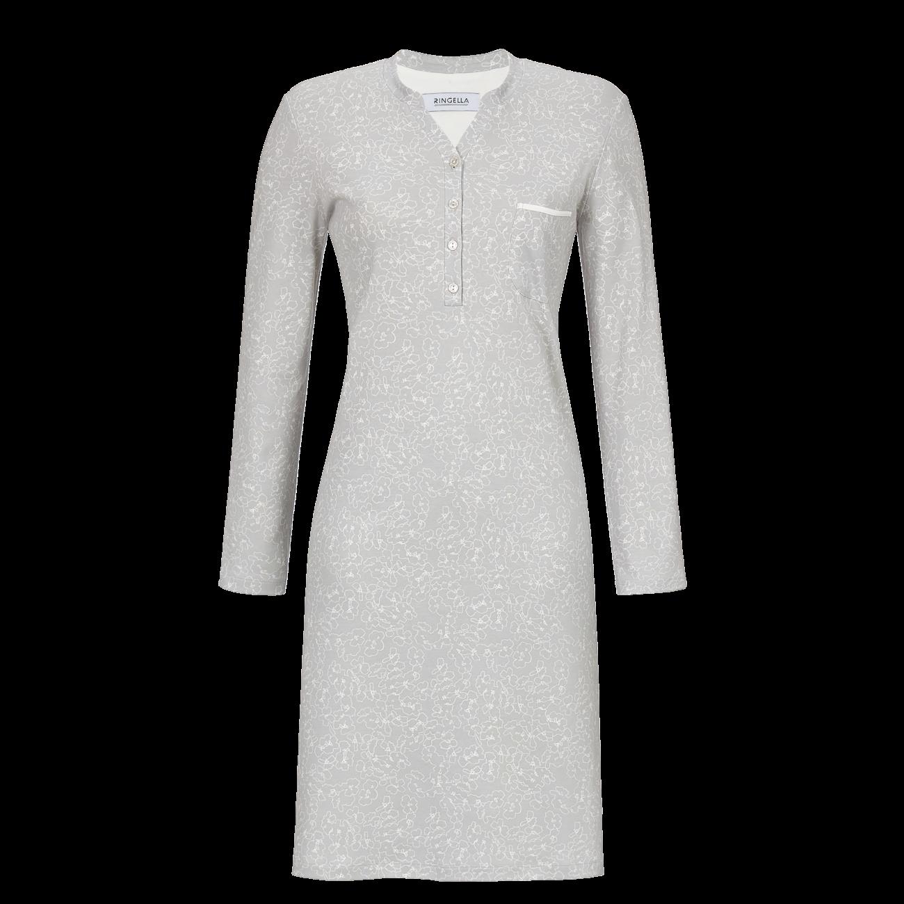 Nachthemd mit Knopfleiste silber | 40