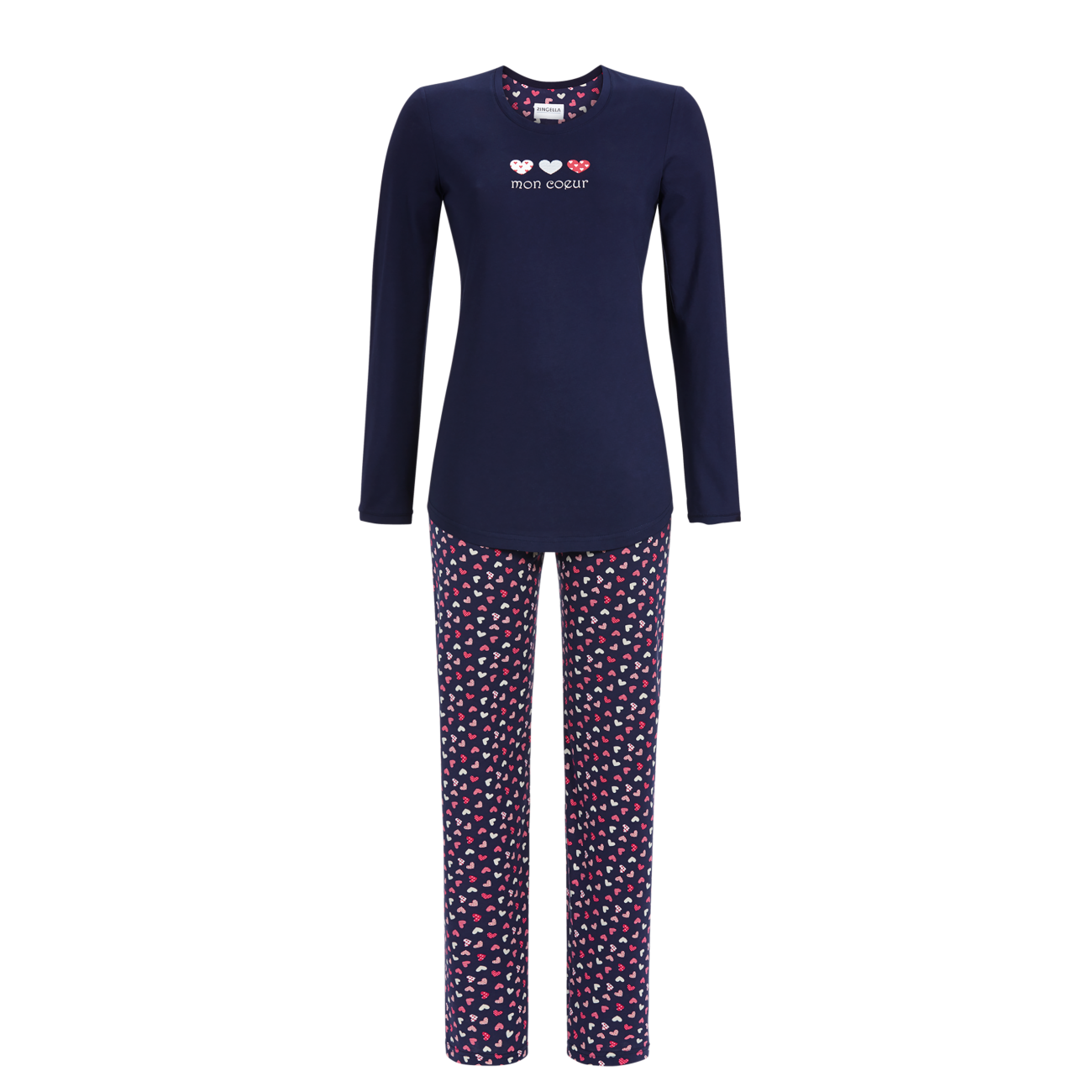 Pyjama mit Herzchenprint