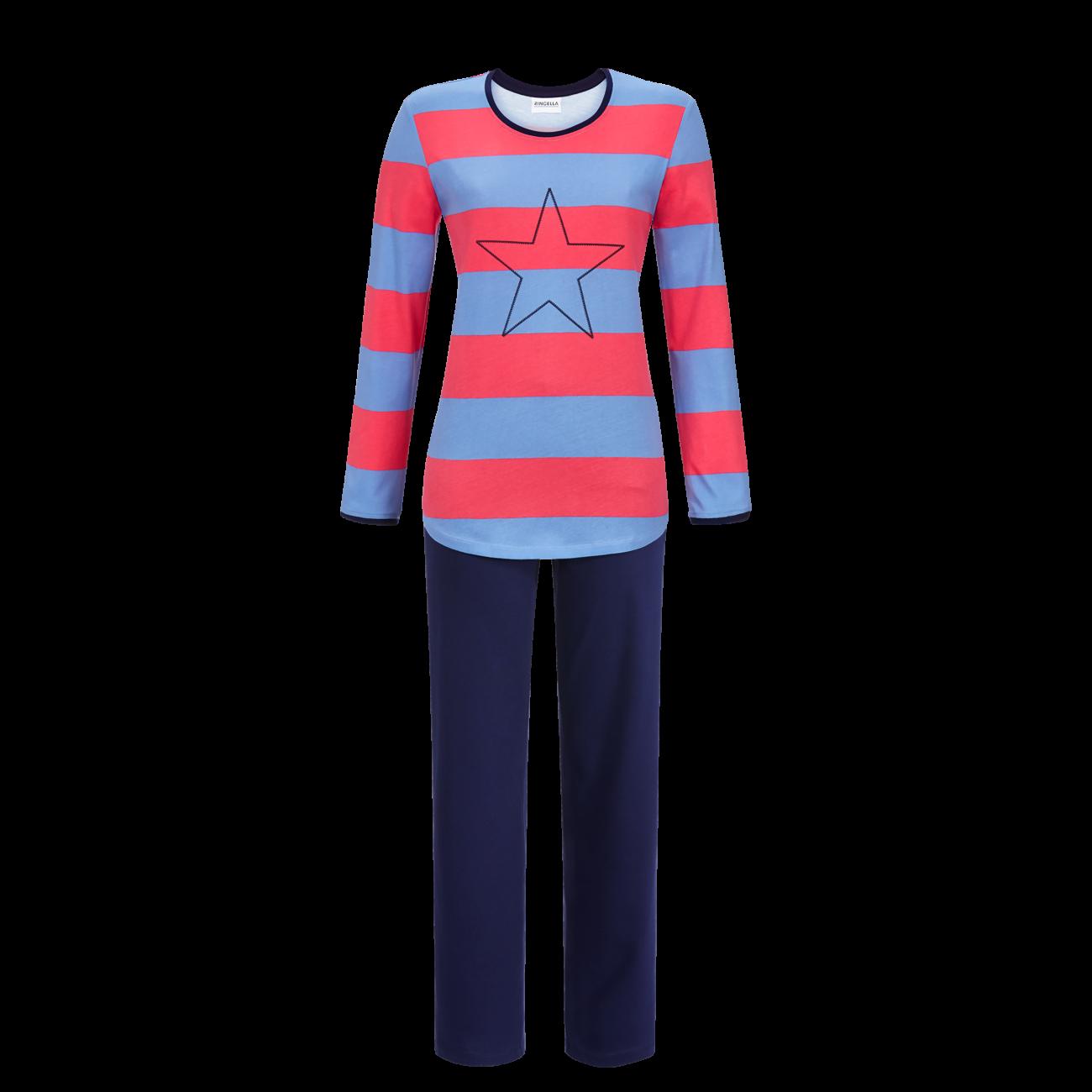 Pyjama mit Blockringel pool | 48