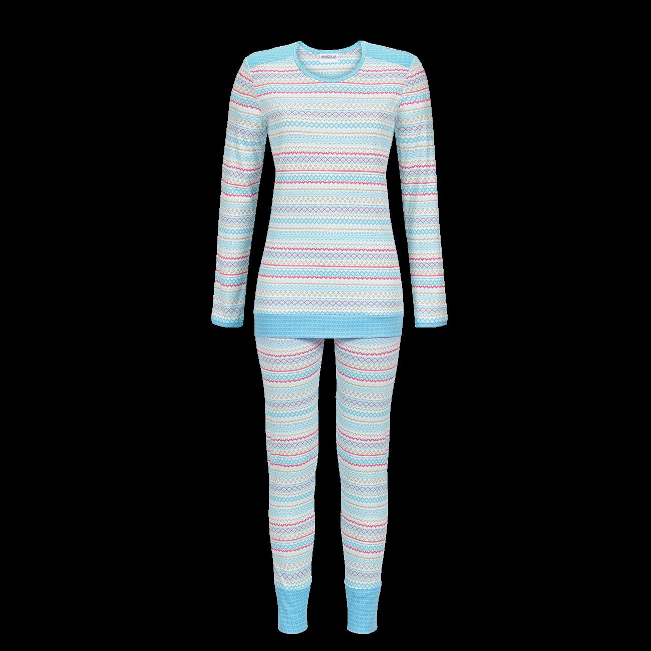 Pyjama Langarm milky blue   38