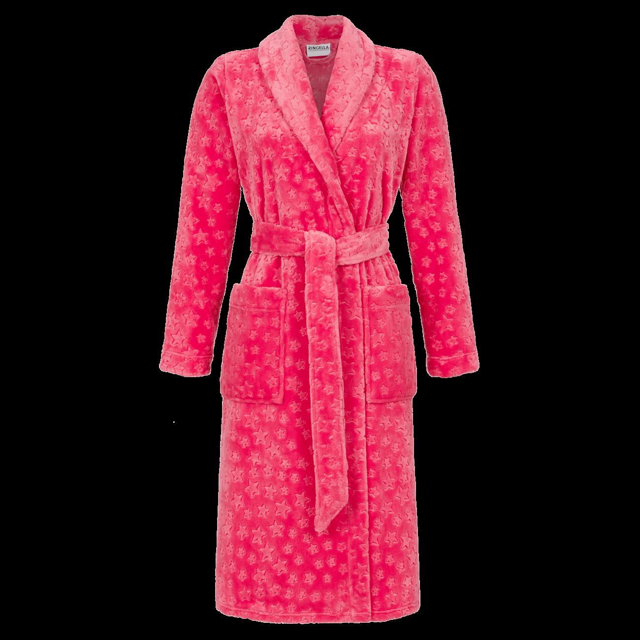 Mantel aus weichem Flausch rot   44