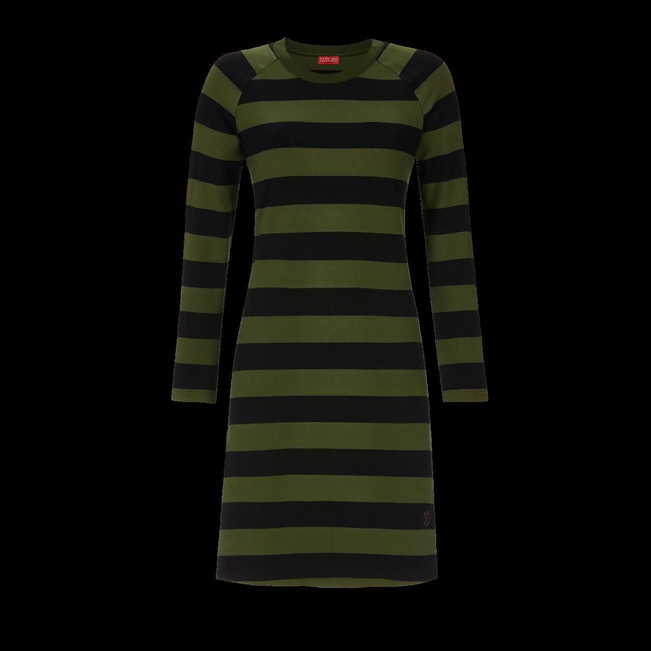 Nachthemd mit Blockringel oliv | 50
