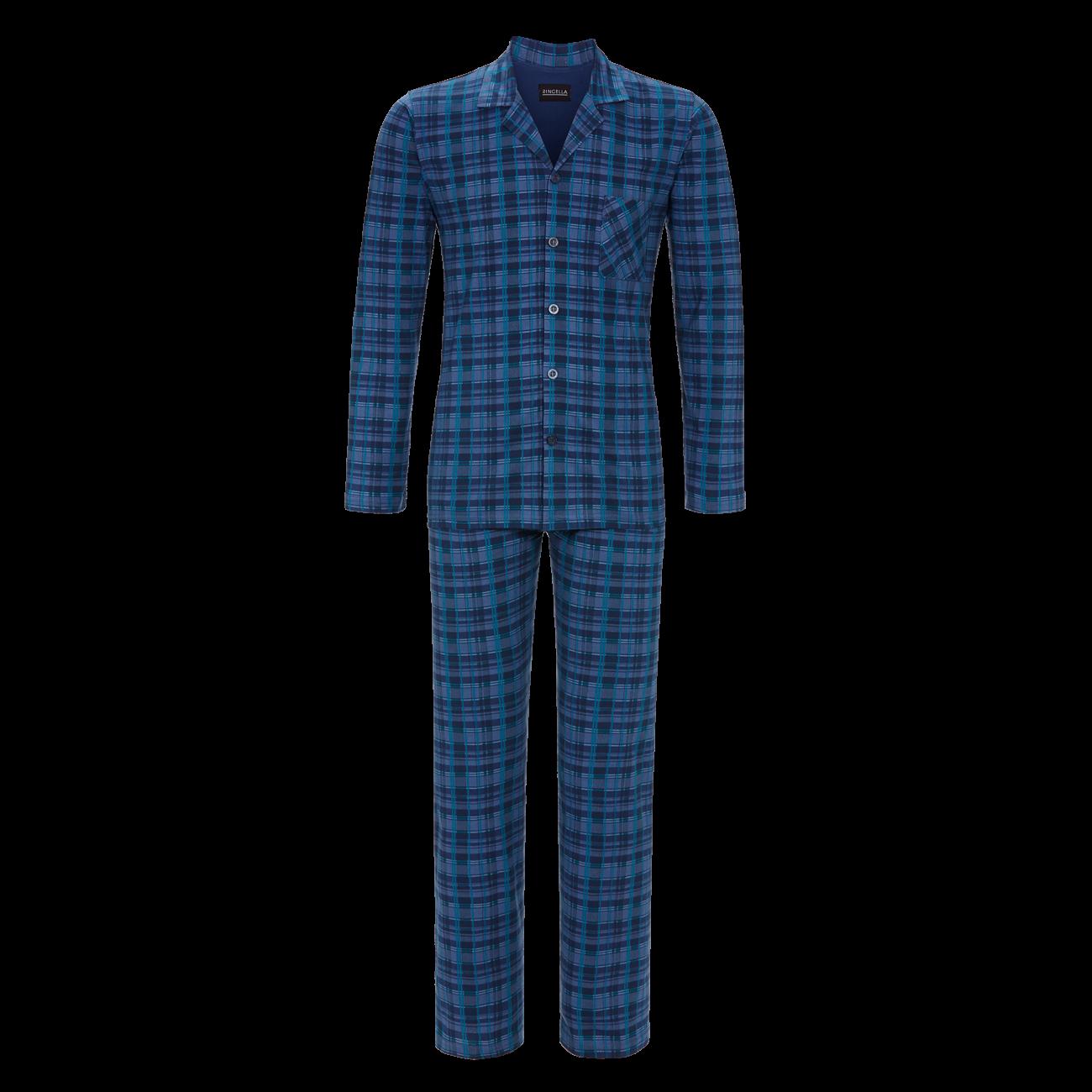 Pyjama durchgeknöpft denim | 46
