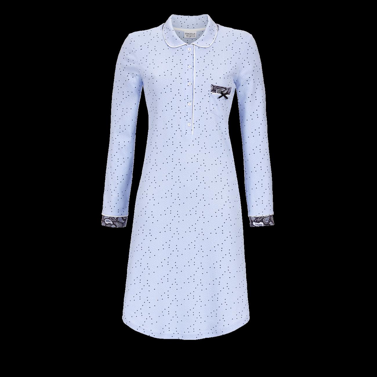 Nachthemd mit Knopfleiste ciel | 36