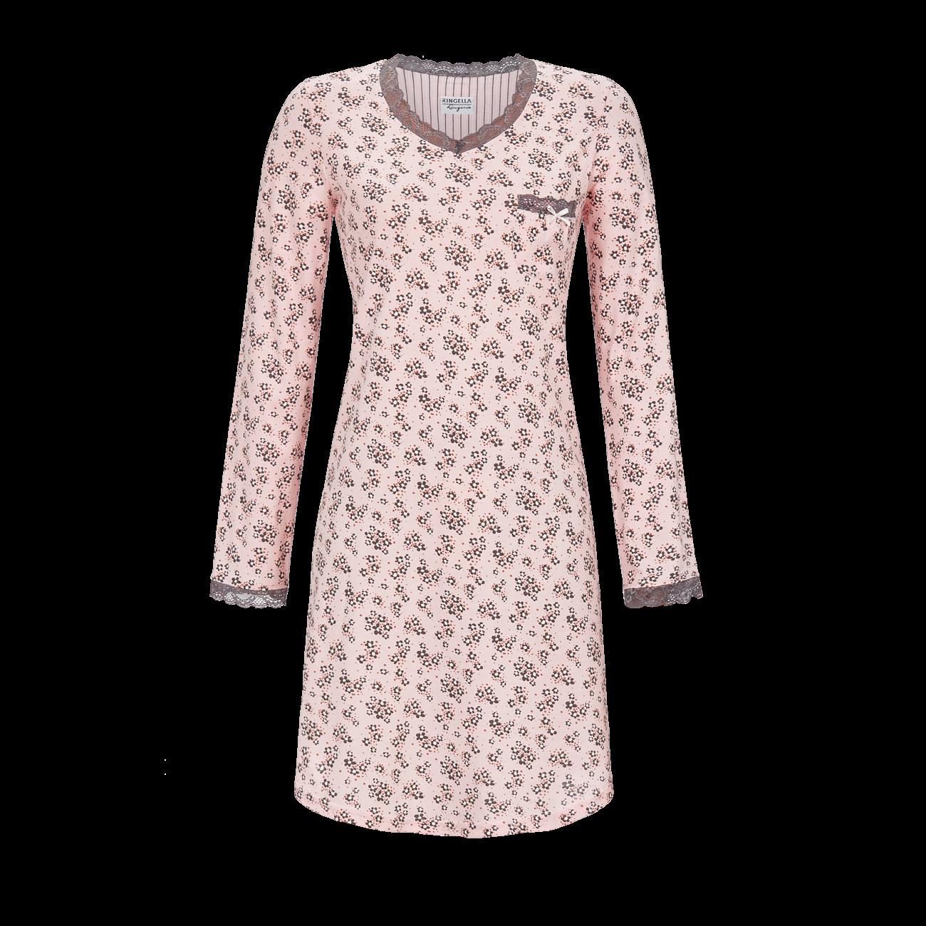 Nachthemd mit kleiner Spitze crystal rose | 48