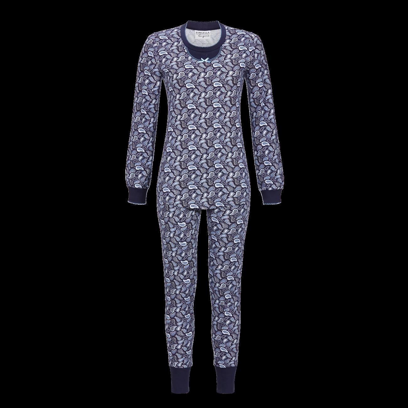 Pyjama mit Strickbündchen night   46