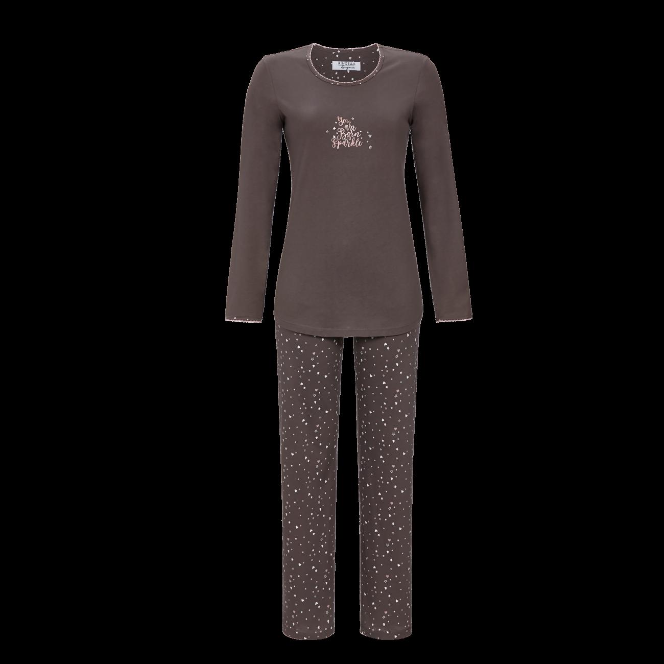 Pyjama mit Motivdruck charcoal grey | 36