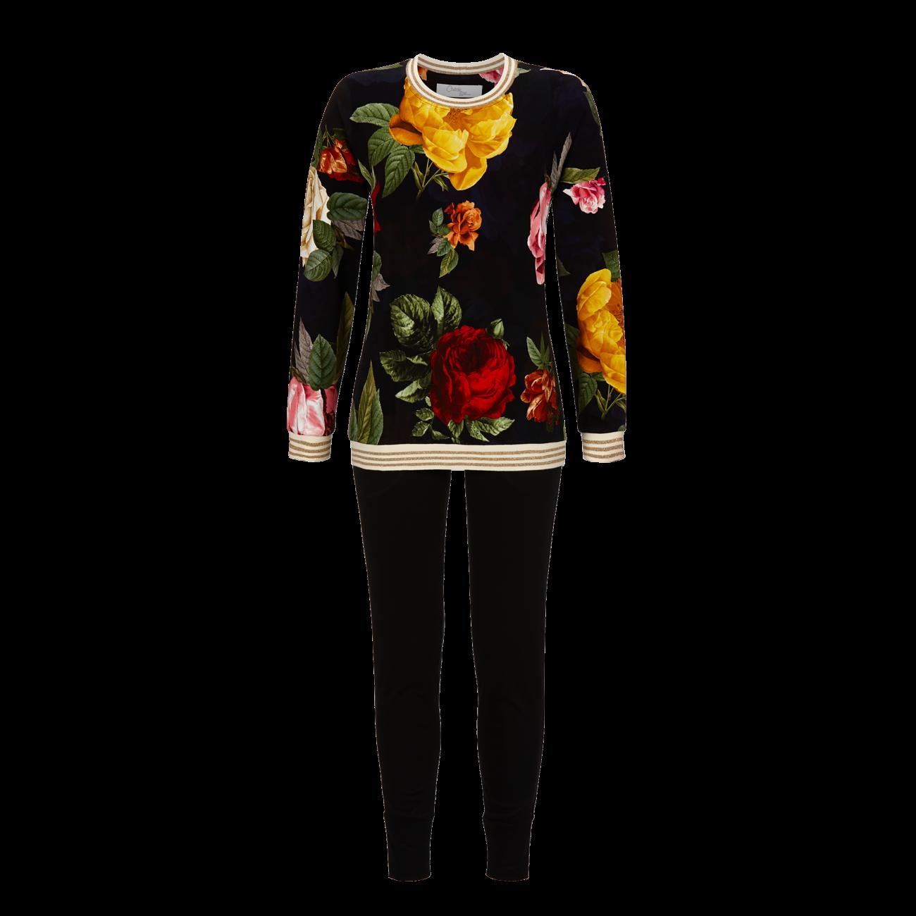 Pyjama mit Leggings schwarz | 36