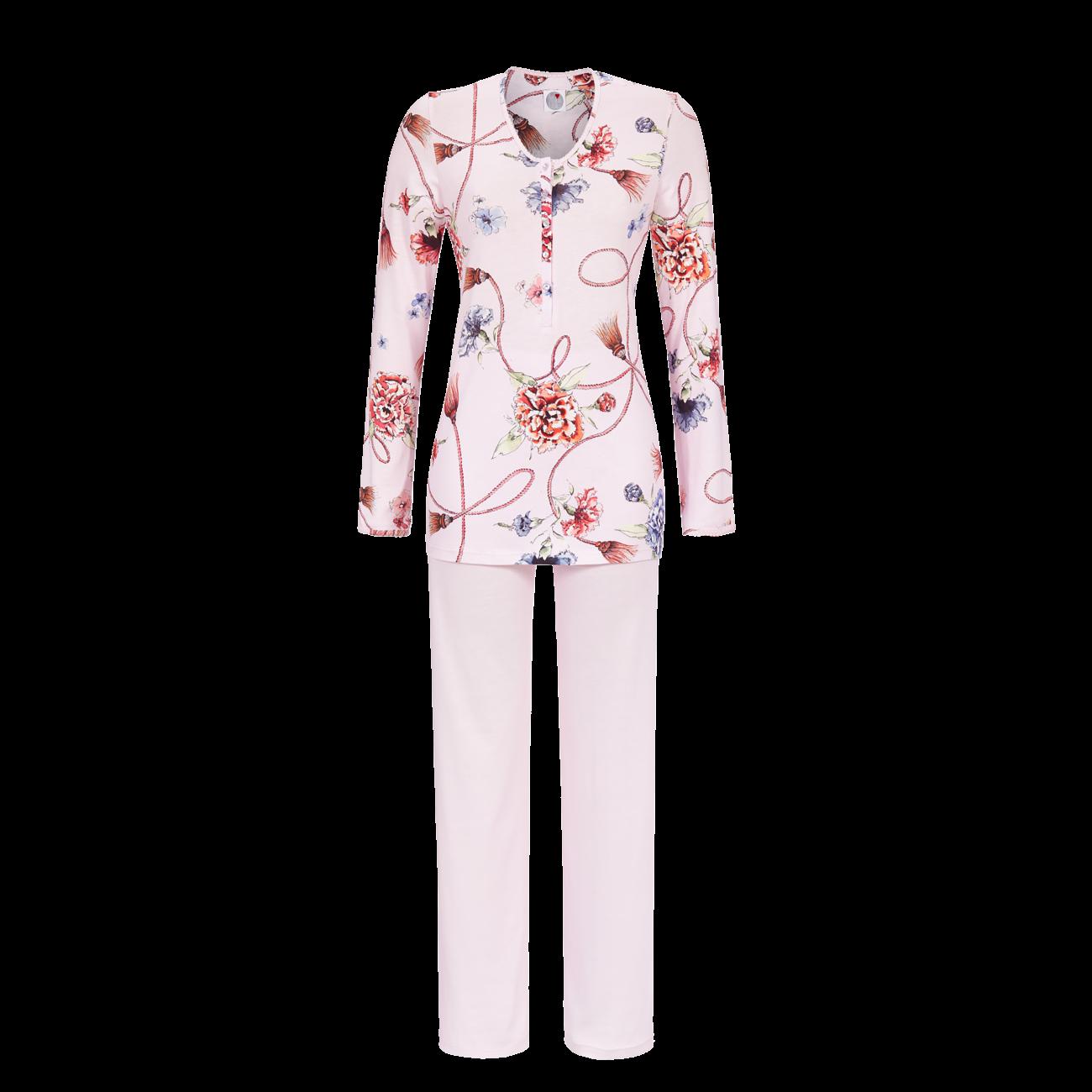 Pyjama mit Knopfleiste icy orchid | 40