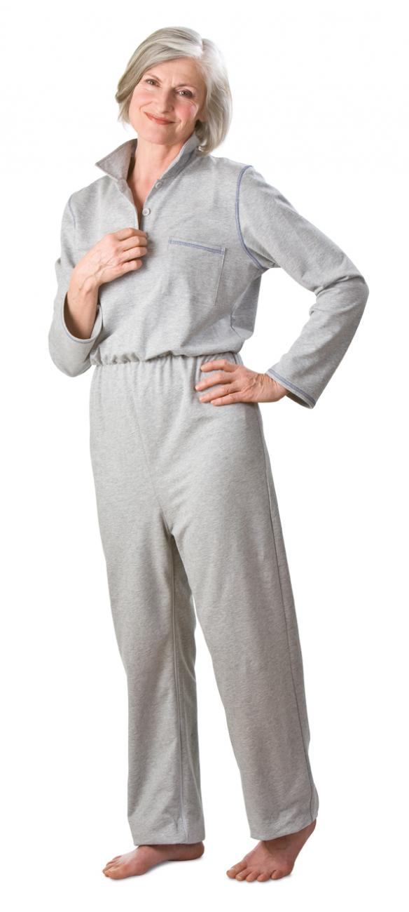 Damen Overall grau-melange | S